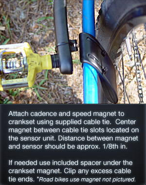 Bike Cadence & Speed Magnet for Cycling Computer